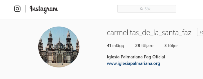 The Palmarians are on Instagram!