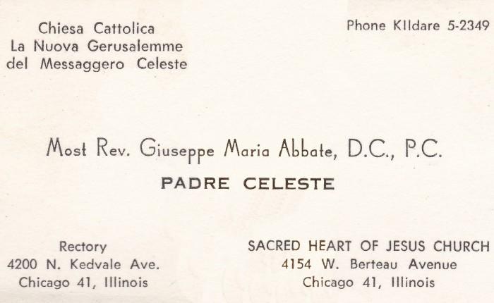 New Text on Giuseppe Maria Abbate the CelestialMessenger